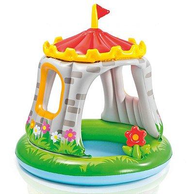 Piscina Inflável Castelo com Cobertura Infantil Praia 8019-1 - Intex
