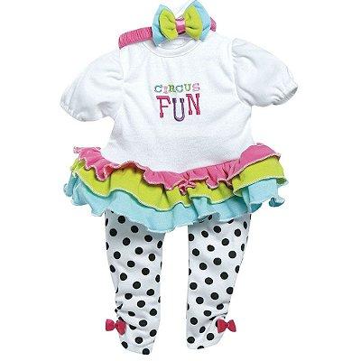 Roupa Boneca Adora Doll Bebê Realista Menina Circus Fun