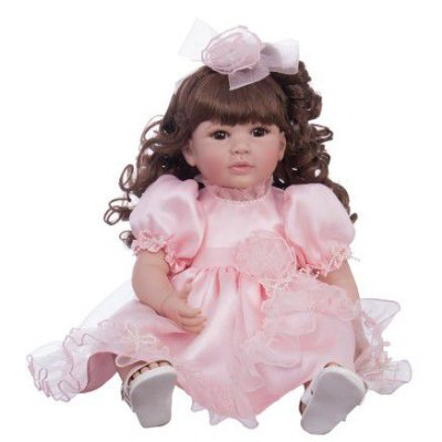 Boneca Laura Doll Bebê Realista Menina Pink Rose