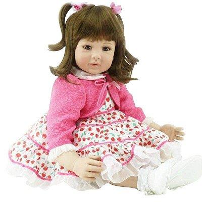 Boneca Laura Doll Bebê Realista Menina Cherry