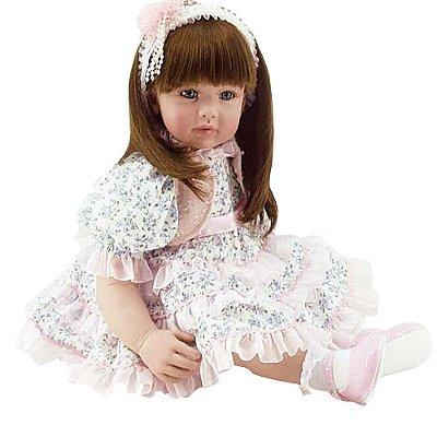Boneca Laura Doll Bebê Realista Menina Flower Light