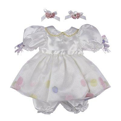 Roupa Laura Doll Bebê Realista Menina Docinho