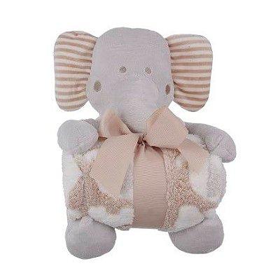 Elefante de Pelúcia Com Cobertor Para Bebê