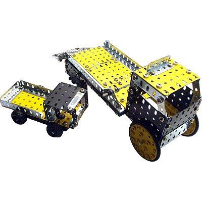 Carro Guincho Motorizado Brinquedo Montar Robótica - Modelix