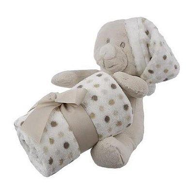 Urso de Pelúcia Com Cobertor Bebê 140139 - Shiny Love