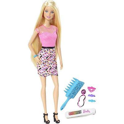 Barbie Luzes Mechas Coloridas - Mattel