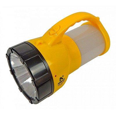 Lanterna Holofote Sinalizador Alça Recarregável 3549 - NSBAO