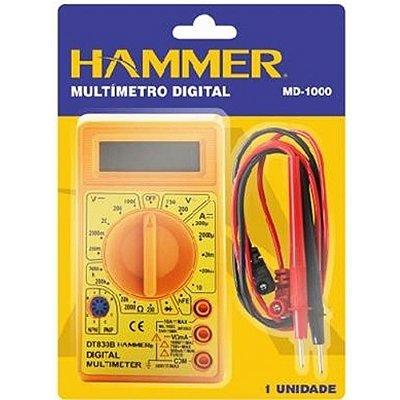 Multímetro Digital Portátil GYMD1000 - Ferramentas Hammer
