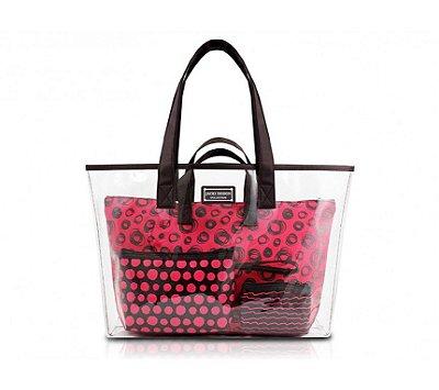 Kit de Bolsa c/ 4 Pçs Bolsa Feminina Casual Pop Art AHL16005 - Jacki Design