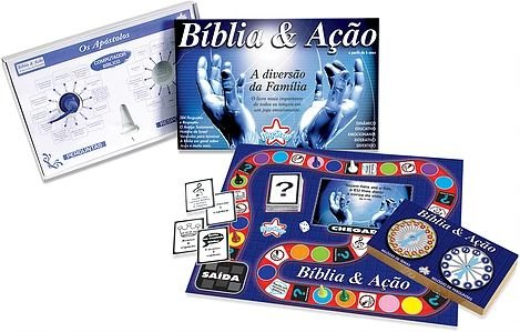 Bíblia E Ação Jogo De Tabuleiro Religioso Família - Big Star