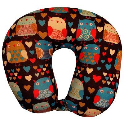 Travesseiro De Pescoço Almofada Viagem Colors Ys09014 - Yins