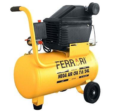Compressor de Ar Mega Air CFA 7.6/24L 127/220V - Ferrari