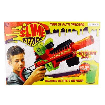 Lançador Slime Attack X-stream Lança Gosma BR558 - Multikids