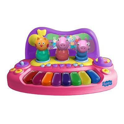 Piano Peppa Pig Com Personagens Brinquedo BR203 - Multikids
