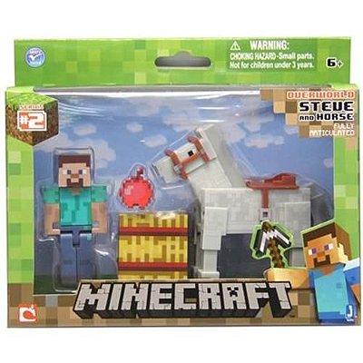 Minecraft Game Brinquedo Steve Com Cavalo BR476 - Multikids