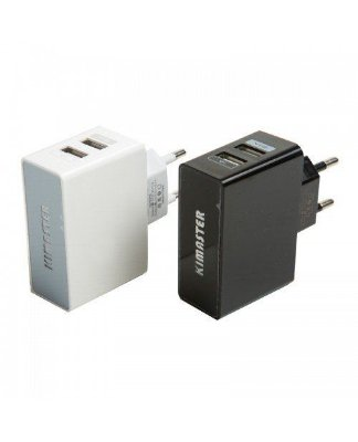 Tomada Adaptador USB Carregador LED Celular TO201 - Kimaster