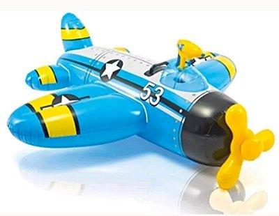 Bote Inflável Infantil Avião com Pistola de Água 8019-3 - Intex