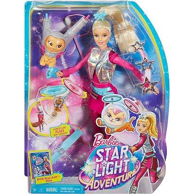 Boneca Barbie Aventura nas Estrelas Gatinho Voador DLT22 Mattel