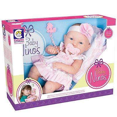 Boneca Bebê Recém Nascido Baby Ninos Cotiplás 7879-1