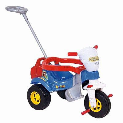 Triciclo Infantil Tico Tico Azul Super Bichos Com Aro Magic Toys