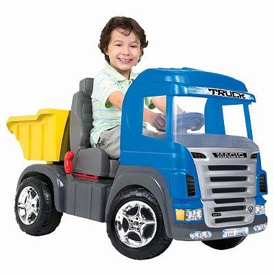 Caminhão Truck Pedal Azul Som E Luz 9310 Magic Toys