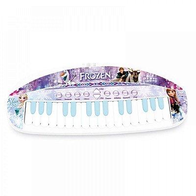Teclado Musical Eletrônico Frozen Infantil 8033-5