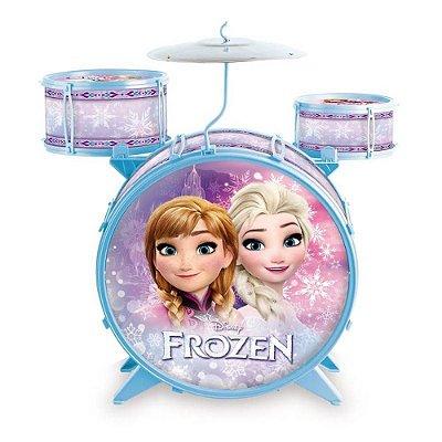 Bateria Infantil Frozen Menina Instrumento Musical 8033-6
