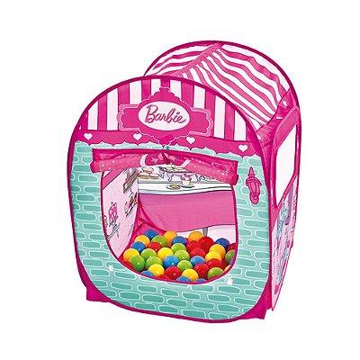 Barraca Infantil Barbie Doceria Fabulosa c/ 50 Bolinhas Fun
