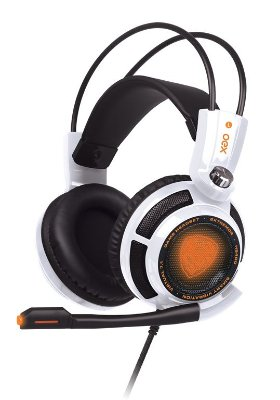 Headset Gamer Extremor Branco 7.1 Smart Vibration Hs400 Oex