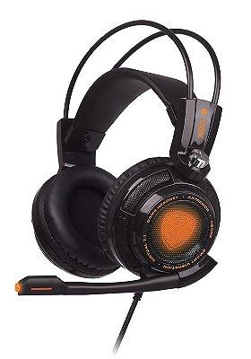 Headset Gamer Extremor Preto 7.1 Smart Vibration Hs400 Oex