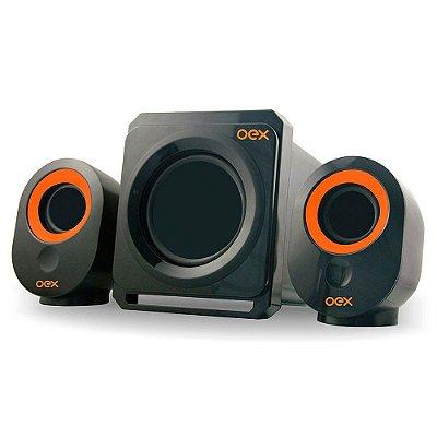 Caixa De Som Speaker Booster 30w Fm Radio Sd Usb Sk500 Oex