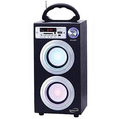 Caixa Caixinha Som Portátil 30w Torre Bluetooth MP3 USB SP106