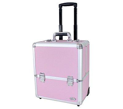 Maleta de Maquiagem com Rodas Rosa BSB15103 - Jacki Design