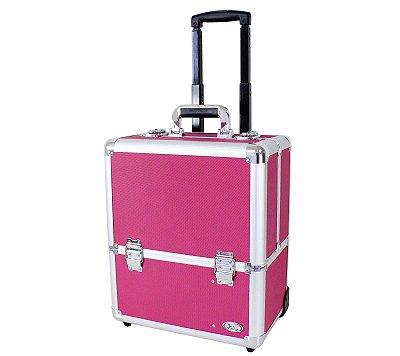 Maleta de Maquiagem com Rodas Pink BSB15105 - Jacki Design