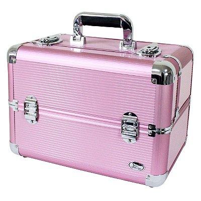 Maleta Profissional Maquiagem Rosa BSB14126 Jacki Design