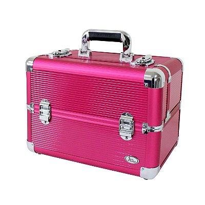 Maleta Profissional Maquiagem Pink BSB14127 Jacki Design