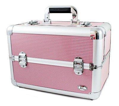 Maleta Profissional Maquiagem Rosa BSB15050 Jacki Design