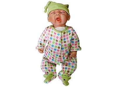 Boneca Reborn Bebê Realista Sleepy Frog 21002200