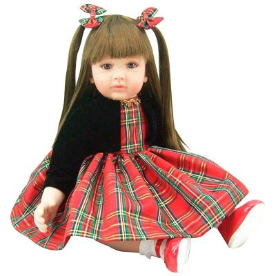Boneca Bebê Realista Menina Red Chess PS1625 Laura Doll