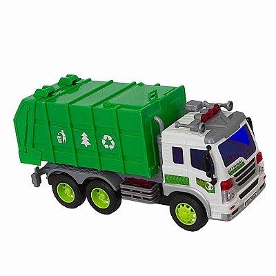 Caminhão de Lixo Brinquedo Coletor Som Luzes 307S - Shiny Toys