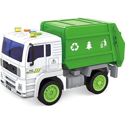 Mini Caminhão de Lixo Brinquedo Coletor 520A - Shiny Toys
