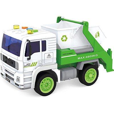 Caminhão de Entulho Brinquedo Luz Som 520B - Shiny Toys