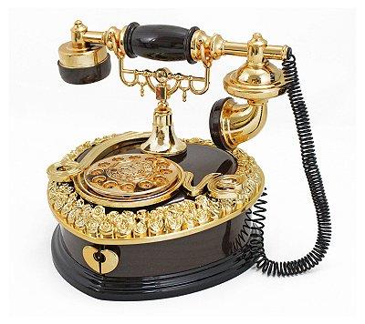Telefone Retrô Enfeite Decoração EYL16083 - Jacki Design
