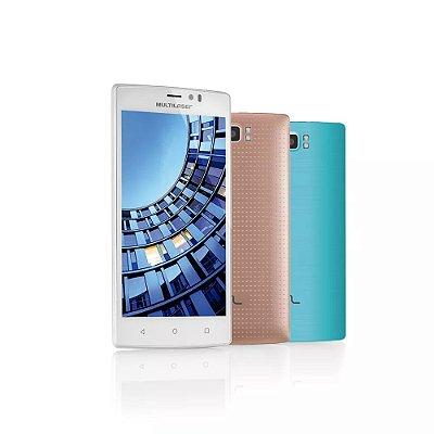 Smartphone MS60 4G Branco P9006 Multilaser + Micro SD 16Gb