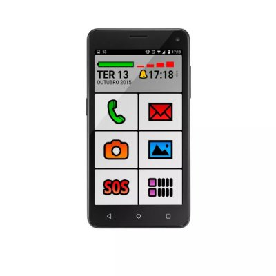 Smartphone Celular Idoso Ms50 8gb Preto P9015 - Multilaser
