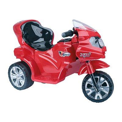 Mini Moto Elétrica Infantil Triciclo Vermelho 6V - Homeplay