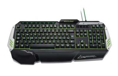 Teclado Gamer Preto com Led USB Warrior TC189 - Multilaser
