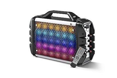 Caixa de Som Bluetooth Microfone LED Alça SP251 - Multilaser