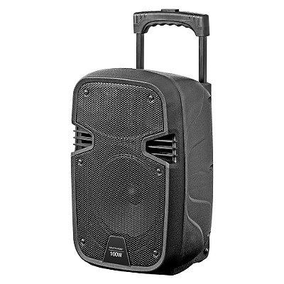 Caixa De Som Amplificada 100w Rms Sd Usb Fm Sp241 - Multilaser