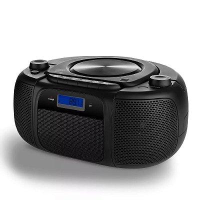 Rádio Boombox Bluetooth Fm E CD 25w Rms 6 Em 1 - SP244